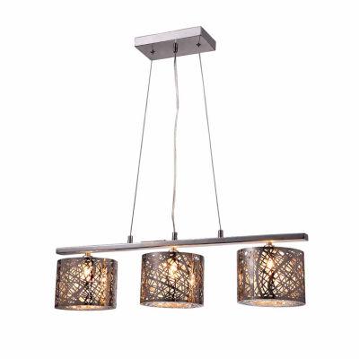 Warehouse Of Tiffany Avery 3-light Chrome 28-inchCrystal Pendant Lamp