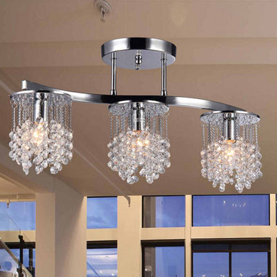 Warehouse Of Tiffany Clee 3-light Chrome 20-inch Crystal Chandelier