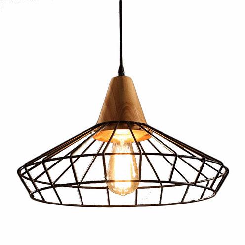Warehouse Of Tiffany Elysian 1-light Black EdisonChandelier with Bulb