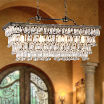 Warehouse Of Tiffany Jaden 4-light Crystal 30-inchChandelier