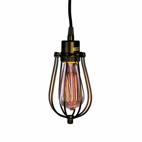 Warehouse Of Tiffany Priscilla Single-light Edison Pendant with Bulb