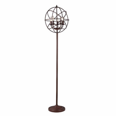 Warehouse Of Tiffany Maaja 5-light Spherical Metal 66-inch Antique Floor Lamp