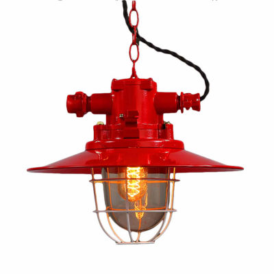 Warehouse Of Tiffany Mystika 1-light Red 12-inch Edison Chandelier with Bulb