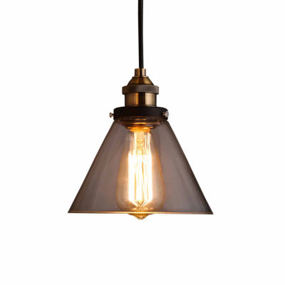 Warehouse Of Tiffany Zhuri 8-inch Adjustable CordGlass Edison Lamp with Light Bulb