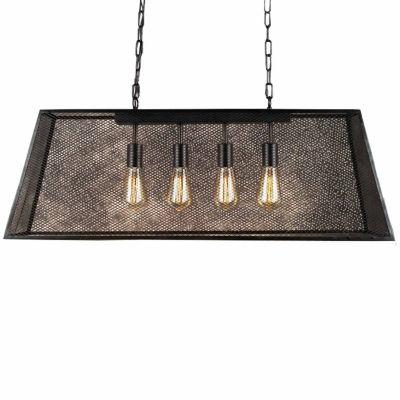 Warehouse Of Tiffany Lemuel 4-light Black 30-inch Edison Island Chandelier with Bulbs