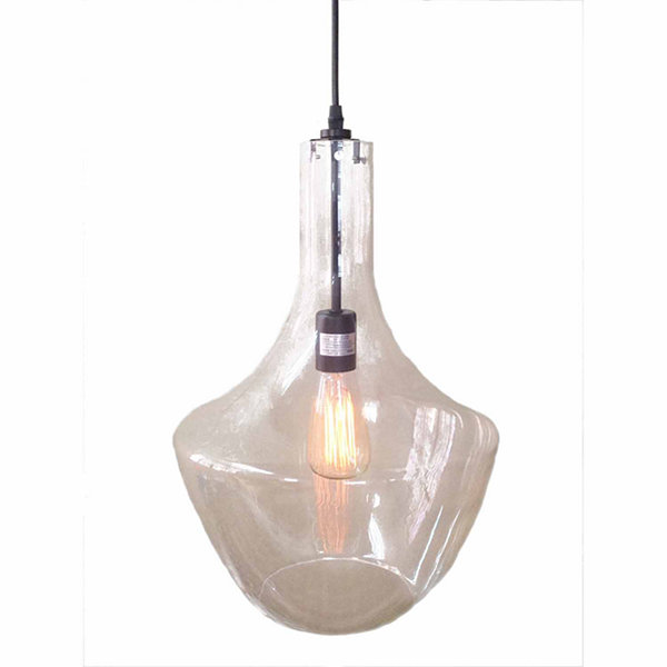 Warehouse Of Tiffany Love 1-light Adjustable Cord Glass Edison Pendant with Bulb
