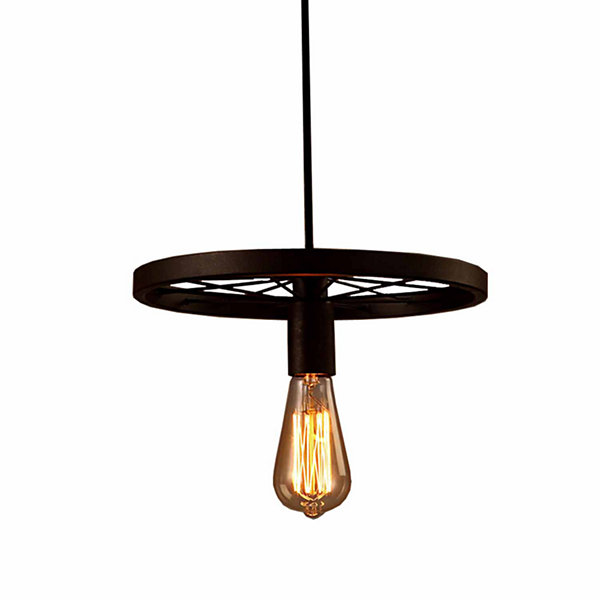Warehouse Of Tiffany Akiko 1-light Antique Bronze12-inch Edison Chandelier with Bulb