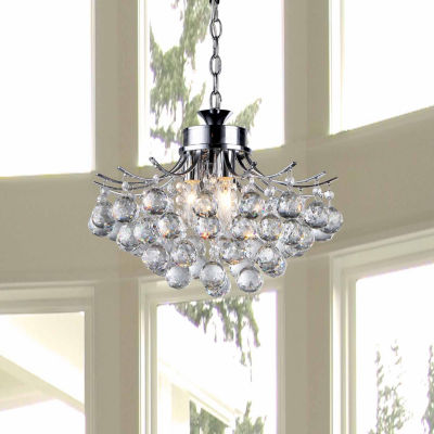 Warehouse Of Tiffany Roman Crystal 3-light ChromeChandelier