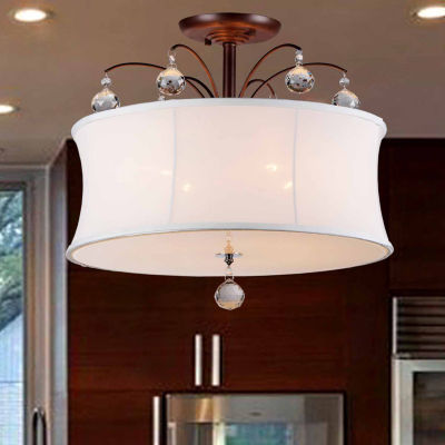 Warehouse Of Tiffany Crystal Fountain Pendant Lamp