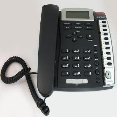 Cortelco ITT-3220CH Medallion 2-Line Corded Telephone - Charcoal