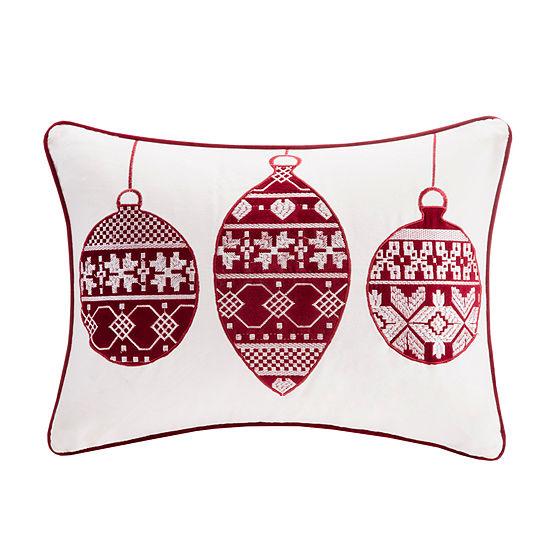 Madison Park Velvet Ornament Oblong Throw Pillow