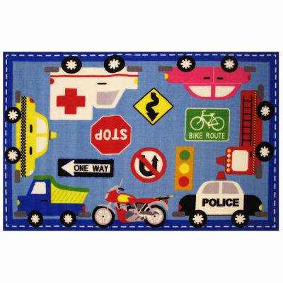 Downtown Traffic Rectangular Rugs