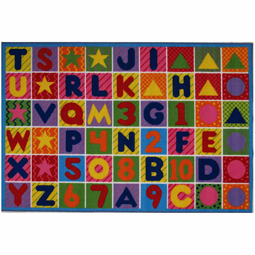 "4'3""X6'6"" Numbers & Letters Rectangle Rugs"