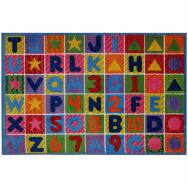 Numbers & Letters Ii Rectangular Rugs
