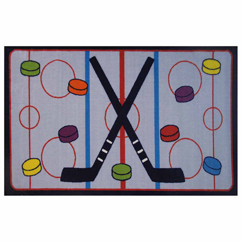 On The Ice Rectangular Rugs