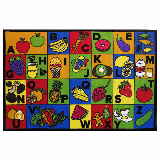 Abc Food Rectangular Indoor Rugs