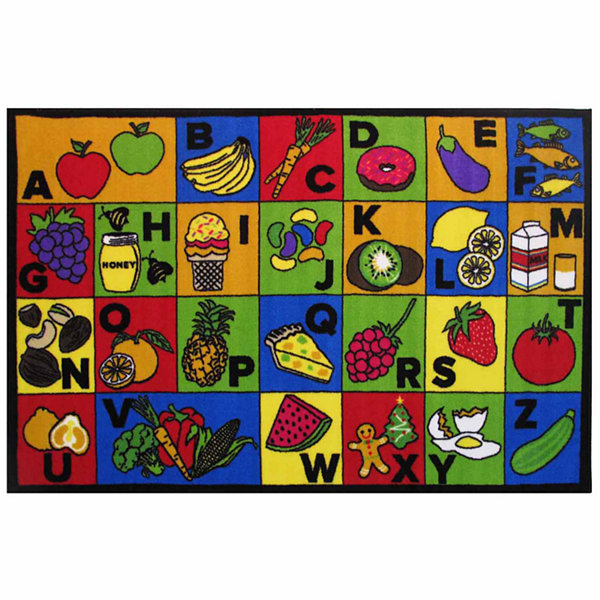 Abc Food Rectangular Rugs