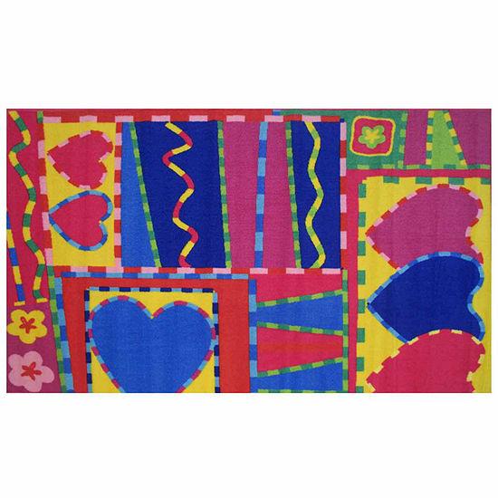 Hearts & Crafts Rectangular Indoor Rugs