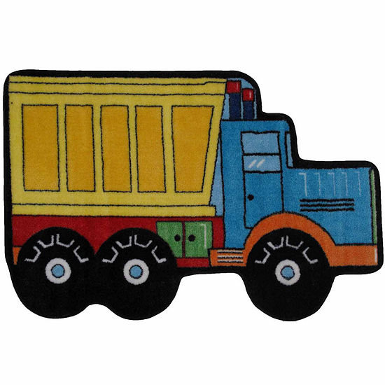 Dump Truck Rectangular Indoor Rugs