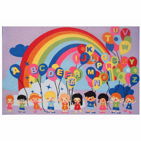 Educational Balloons Rectangular Rugs