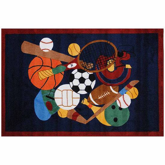 Sports America Ii Rectangular Indoor Rugs