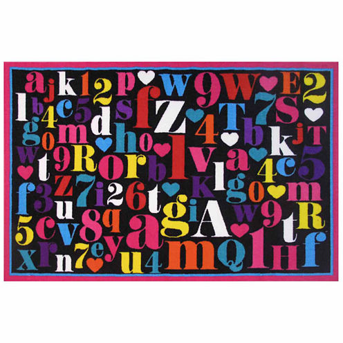 Alphabet Rectangular Rugs