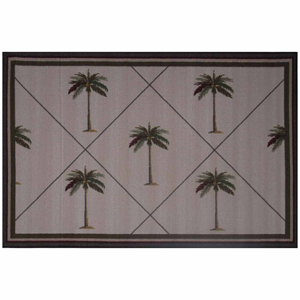 Palm Fronds Rectangular Rugs