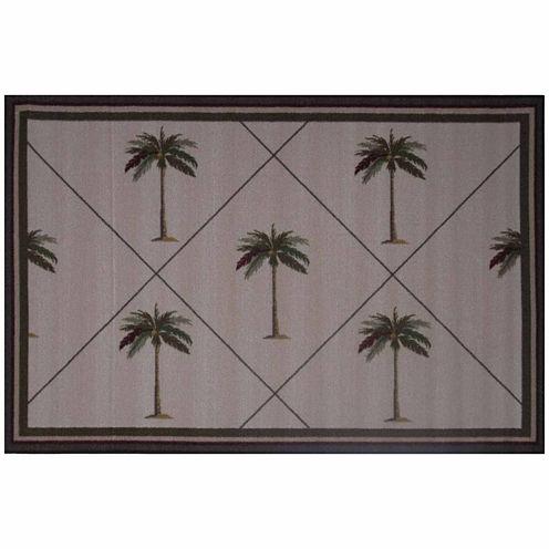 Palm Fronds Rectangular Rugs