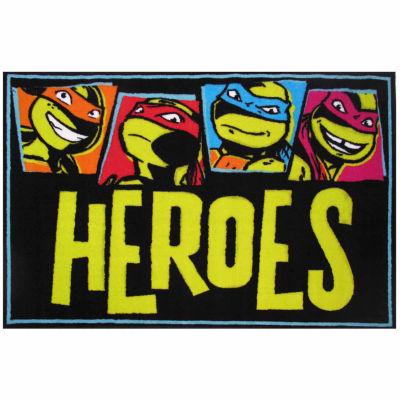 Tmnt Heroes Rectangular Rugs