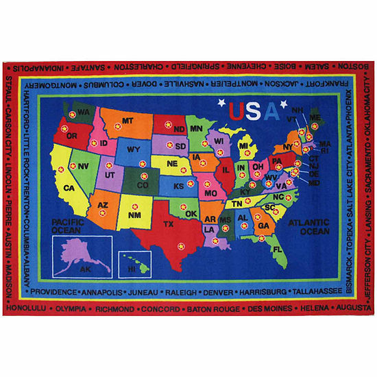 State Capitals Rectangular Indoor Rugs