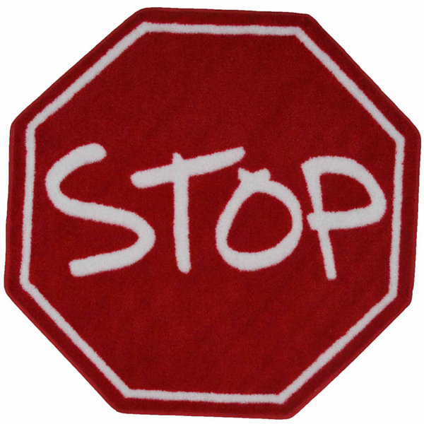 Stop Sign Round Rugs