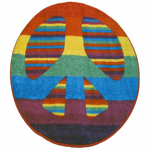 Peace Round Rugs
