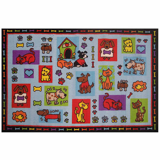 Pets R Us Rectangular Indoor Rugs
