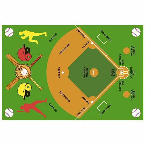 Baseball Field Rectangular Rugs