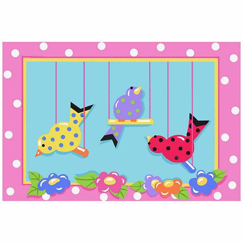 Swingin' Chicks Rectangular Rugs