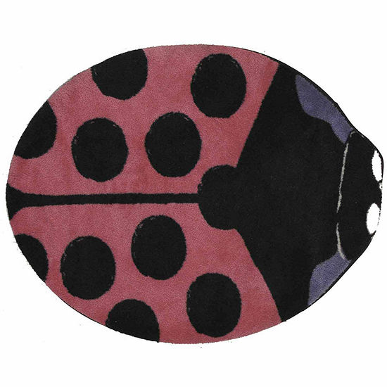 Pink Lady Bug Indoor Rugs