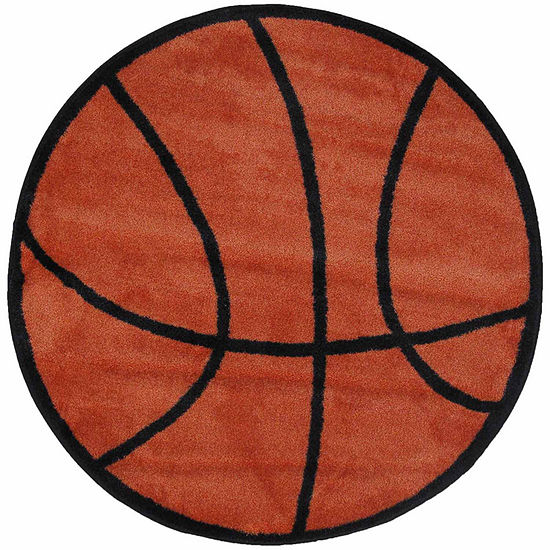 Basketball Round Indoor Rugs