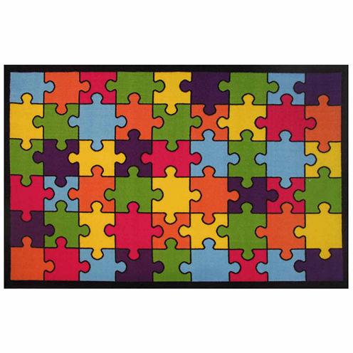 Jigsaw Puzzle Rectangular Rugs