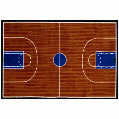 Basketball Court Rectangular Rugs