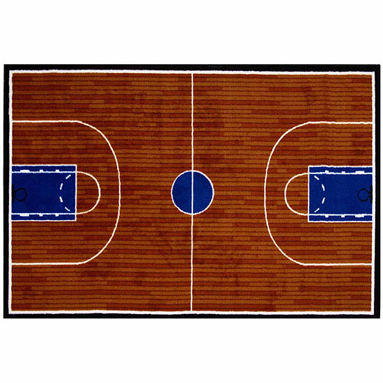 Basketball Court Rectangular Indoor Rugs