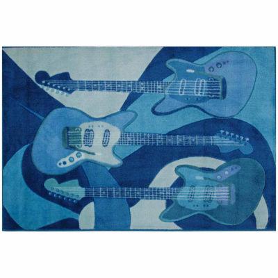 The Blues Rectangular Rugs
