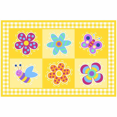 Flowerland Rectangular Rugs