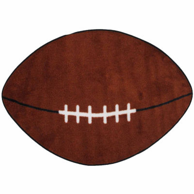 Football Oval Indoor Rugs