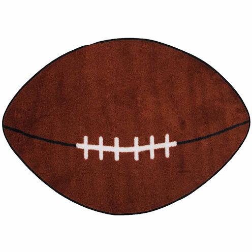Football Oval Rugs