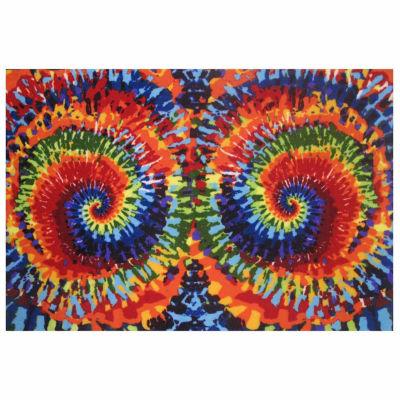 Tie-Dye Fun Rectangular Indoor Rugs