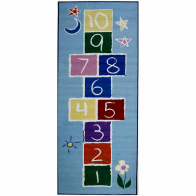 Primary Hopscotch Rectangular Rugs