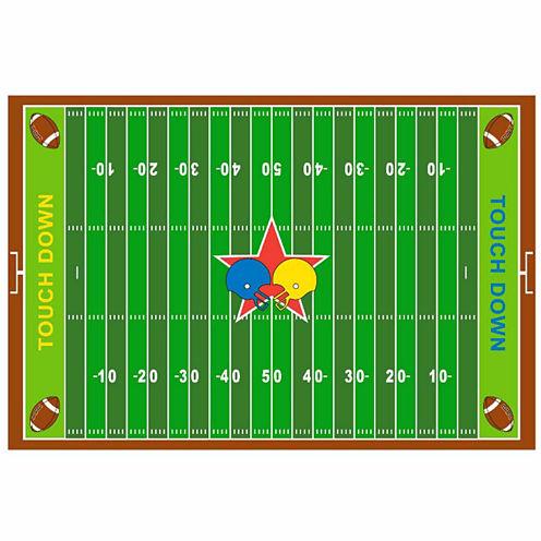 Football Field Rectangular Rugs
