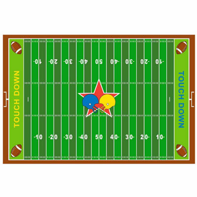 Football Field Rectangular Indoor Rugs