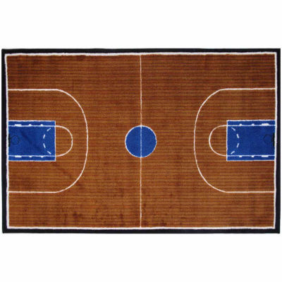 Basketball Court-Supreme Rectangular Rugs