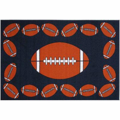 Football Time Rectangular Rugs